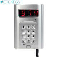 Retekess 999 Channel Wireless Keyboard Call Button Transmitter for Wireless Restaurant Paging Queuing System F4410D