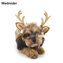 Hat Pet Dog Cat Christmas Cosplay Head wear Elk Reindeer Antlers headband Apparel New Xmas Headband
