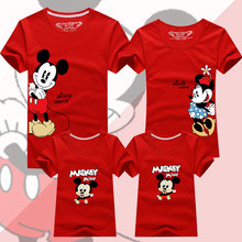 Family Matching Outfits Father Mother Daughter Son Mickey Minnie T-shirt Clothes Dad Mom and Me Baby Mouse Tshirt Family Look basketball dad mom baby girl boy family matching outfits cotton t shirt father mother son daughter print letter mommy and me kid