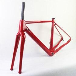 2018 węgla żwiru rama rowerowa węgla CX płaski dysk rama rowerowa Cyclocross rama dysku z Thru Axle142 * 12 żwiru rower