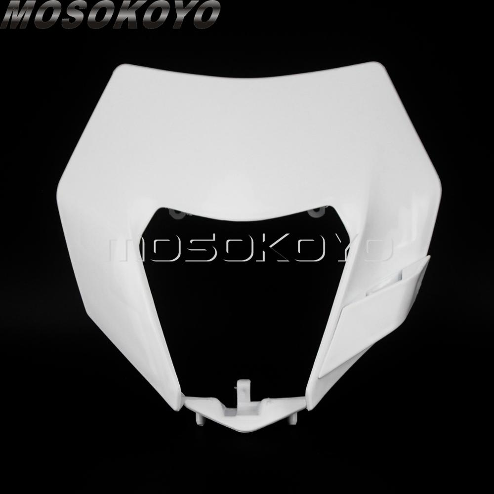 Dual Sport Dirt Bike Universal Front Mask Headlight Cover Housing Light Shell For KTM Kawasaki Suzuki Yamaha KLX CRF EXC WR 125