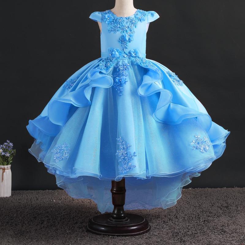 Flower Girls Dresses Sleeveless Christmas Dress For Girls Pageant Tulle Kids Dresses For Girls Princess Party Gown
