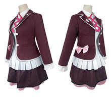 Kotoko Utsugi Cosplay Zettai Zetsubo Shojo: Danganronpa başka bir bölüm Kotoko kostüm tam Set JK üniforma Cosplay kostüm