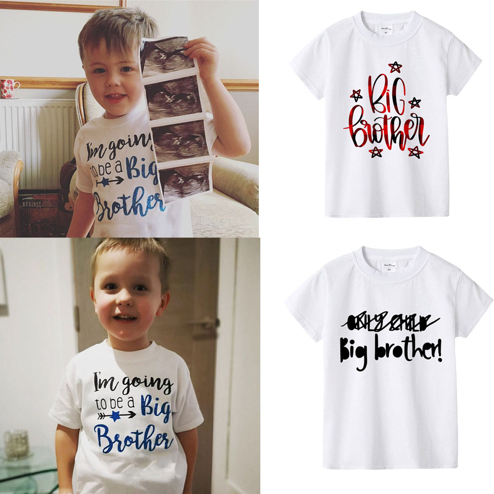 I'm Going To Be A Big Brother Birth & Pregnancy Announcement T-Shirt Top Boy Baby Son Family Look Tshirts Summer Fashion Tee