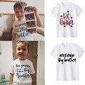 Футболка с надписью «I'm To Be A Big Brother Birth & Prevention» топ для маленького сына, семейная одежда, футболки, летняя модная футболка