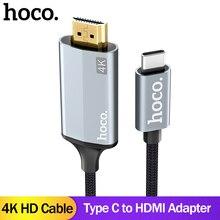 HOCO USB C HDMI Kabel Typ C zu HDMI Adapter Für Macbook Samsung Galaxy S9 S8 Huawei Mate10 P20 Projektor HDMI zu Typ C Kabel