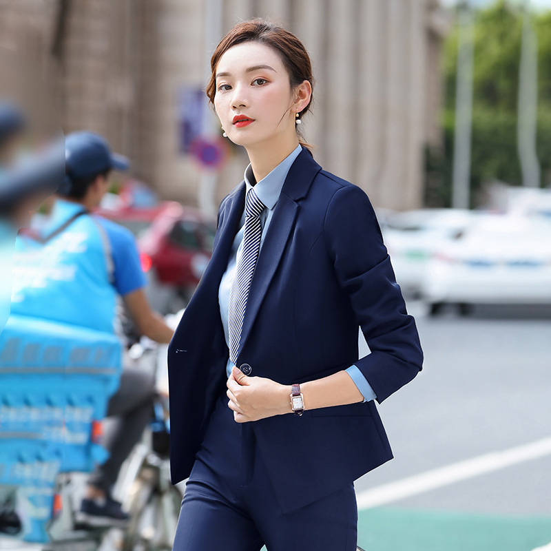 Professional women skirt suit high quality 2020 new spring and autumn slim fit feminine blazer jacket Casual trousers Two-piece