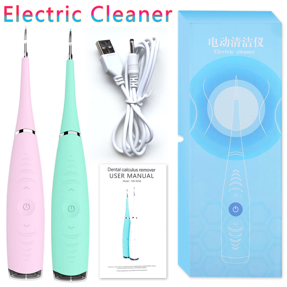 Electric Ultrasonic Dental Scaler Machine Tooth Calculus Tool Sonic Remover Stains Tartar Plaque Whitening Portable Oral Cleaner