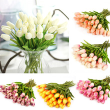 10Pcs Tulip Artificial Flowers Bouquet Cheap Fake For Home Wedding Decoration Indoor Flower Festival Supplies