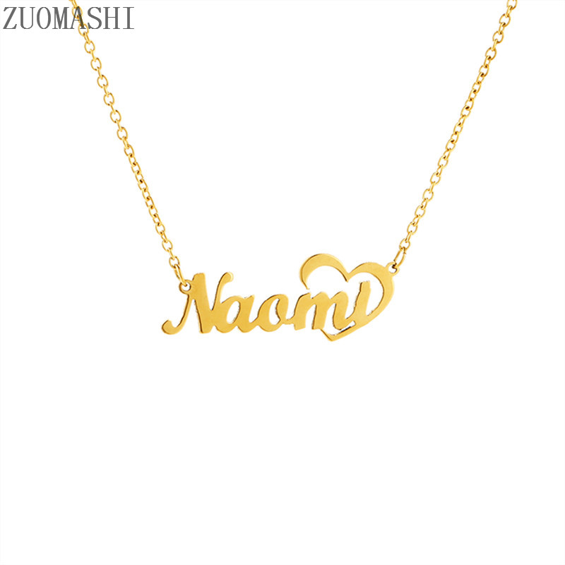 Personalised Any Name Necklace Chain BabyGirl Nameplate Pendant Stainless Steel