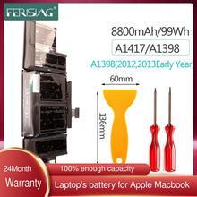 FERISING A1417 Laptop Battery For Apple MacBook Pro Retina 15