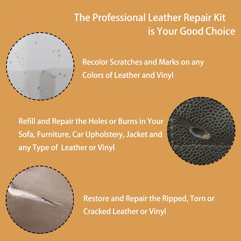 Image 4 - LUDUO DIY Liquid Leather Repair Kit Vinyl Furniture Paint Car Seats Sofa Shoes Jacket Skin Restore Cleaner Paint Care with Cloth-in Polishes from Automobiles & Motorcycles