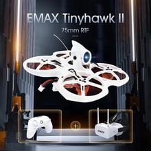 EMAX Tinyhawk II 75 мм 1-2S Whoop FPV гоночный Дрон RC Квадрокоптер RTF w/ FrSky D8 Runcam 2 камера 25/100 мВт VTX ESC