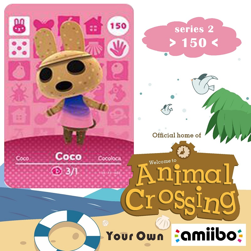 150 Animal Crossing <font><b>Amiibo</b></font> <font><b>Card</b></font> Coco <font><b>Amiibo</b></font> <font><b>Card</b></font> Animal Crossing Series 2 Coco Nfc <font><b>Card</b></font> Work for Ns Games Fast Shipping image