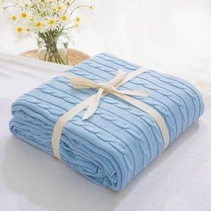 Image 4 - 販売 格子縞の毛布ベッドカバーソフトスローブランケットベッドカバー寝具ニット毛布空調快適な睡眠ベッド