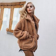 Fur coat women 2019 short casual winter basic jacket women fashion zipper warm s