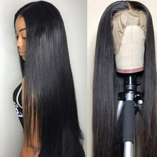 Queen Love Straight Lace Front Human Hair Wigs Pre Plucked Hairline Remy 13X4 Brazilian Straight Lace Front Human Hair Wigs