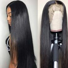 Queen Love, прямые парики из натуральных волос на кружеве, предварительно выщипанные волосы Remy 13X4/13X6, бразильские прямые парики из натуральных волос
