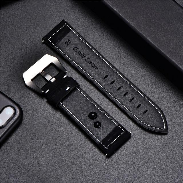 Vintage Matte Leather Watchband 5
