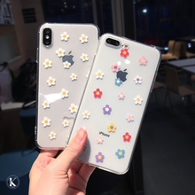 Fashion Flowers Transparent Soft TPU Case For iPhone 11 Pro Max X XS XR 8 7 6 6S Plus Clear Silicon Flower Phone case Back Cover luxury clear phone case for iphone 11 pro max x xr xs max 8 7 6s 6 plus case soft silicon transparent back tpu full cover cases