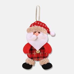 2019 New Small dolls Christmas tree decorations pendant Christmas day children's small gifts hanging lanyard dolls 4