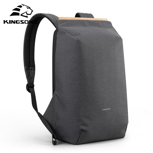 Kingsons 2020 nowe wodoodporne plecaki USB ładowania tornister anti-theft mężczyźni i kobiety plecak na laptopa podróży mochila