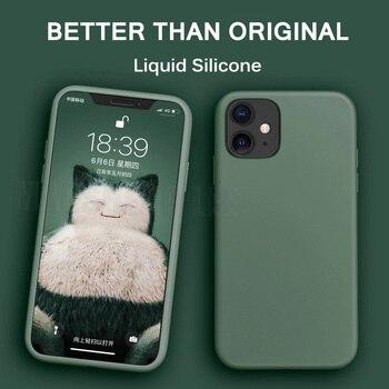Étui en Silicone liquide pour iphone 11 Pro Max X XS Max XR couleur bonbon Ultra mince couverture souple pour iPhone 7 8 6 6S Plus étuis
