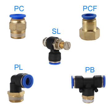 Pneumatic PC/PCF/PL/PLF Pneumatic connector 4mm-12mm fitting thread 1/8 1/4 3/8 1/2 air Thread Female Straight Air Fitting 1pcs pneumatic quick connector pcf pc pl sl pb 4mm 12mm hose tube air fitting 1 4 1 8 3 8 1 2bspt male thread pipe coupler