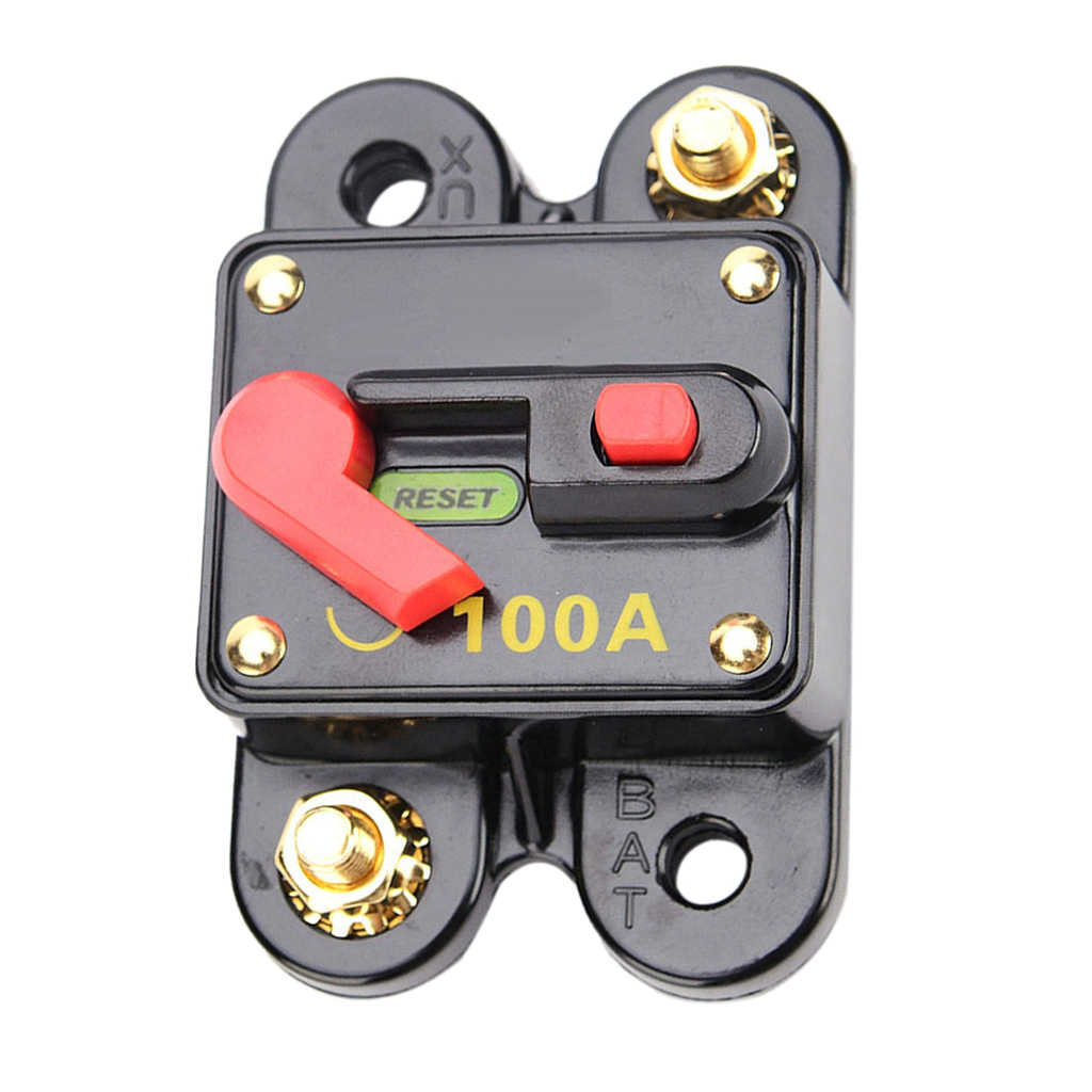 10A-100A Waterproof Reset Circuit Breaker Kill Switch for Automobile Protection