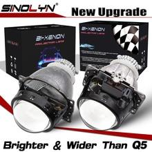 Sinolyn far lensler yükseltme Koito Q5 3.0 D2S Lens H4 bi xenon HID projektör araba işıkları aksesuarları güçlendirme otomobiller DIY