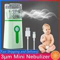 3μm Mini Vernebler Tragbare Stille Handheld Inhalator Ultraschall Vernebler Medizinische Grade Zerstäuber Baby Kinder Erwachsene für Husten Asthma
