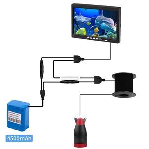 """Image 5 - Erchang 1000TVL Vissen Camera 7 """"Inch 15M Onderwater Camera Voor Vissen 12Pcs Infrarood + 12 Stuks Wit lamp Fishfinder Voor Ijs/Zee"""