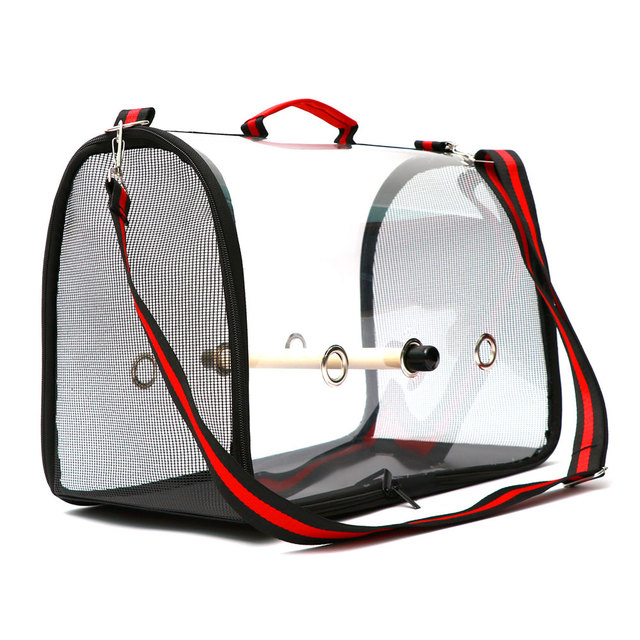 Portable Clear Lightweight Breathable Bird Travel Bag  2