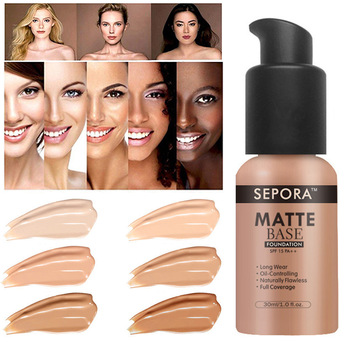 30ml Face Matte Liquid Foundation Base Makeup Oil Control 24 Hours Lasting Concealer Full Coverage Waterproof Contour Makeup