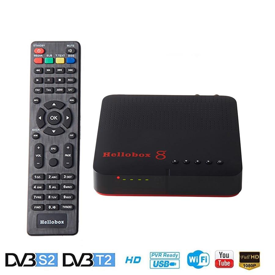 Hellobox 8 Satellite Receiver DVB-T2 DVB S2 TV Tuner Support TV Play On Phone Satellite TV Receiver Cccam T2 Receiver Openbox