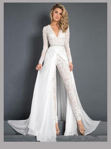 Jumpsuits Wedding-Dress Bridal And Beach for Modern New-Fashion