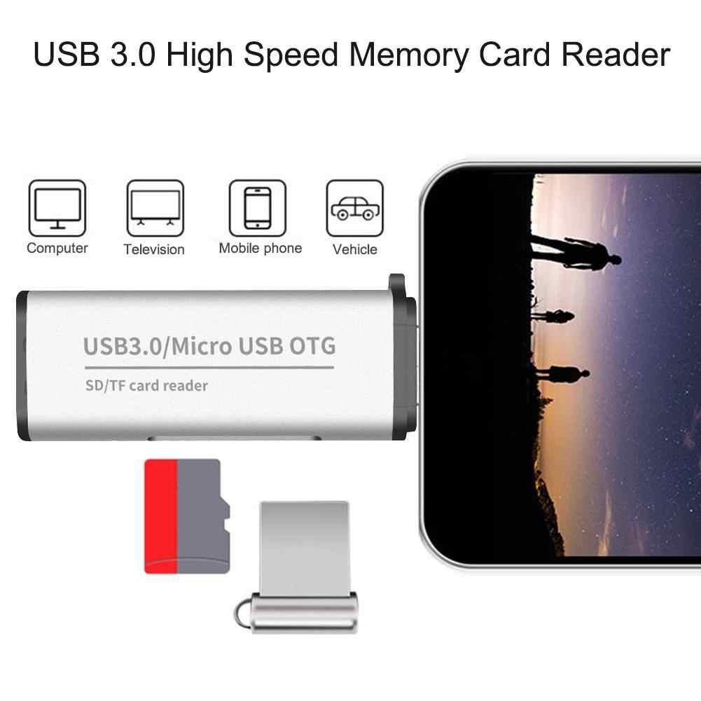 USB 3.0 عالية السرعة TF SD الذاكرة قارئ بطاقات SDHC SDXC MMC وتغ الروبوت محول Cardreader مايكرو SD/TF CF MS مايكرو القراء