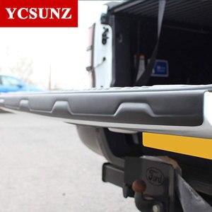 Image 4 - Rear Guard Tail Gate Truck Trim Voor Ford Ranger Wildtrak T6 T7 T8 2012 2013 2014 2015 2016 2017 2018 2019 2020