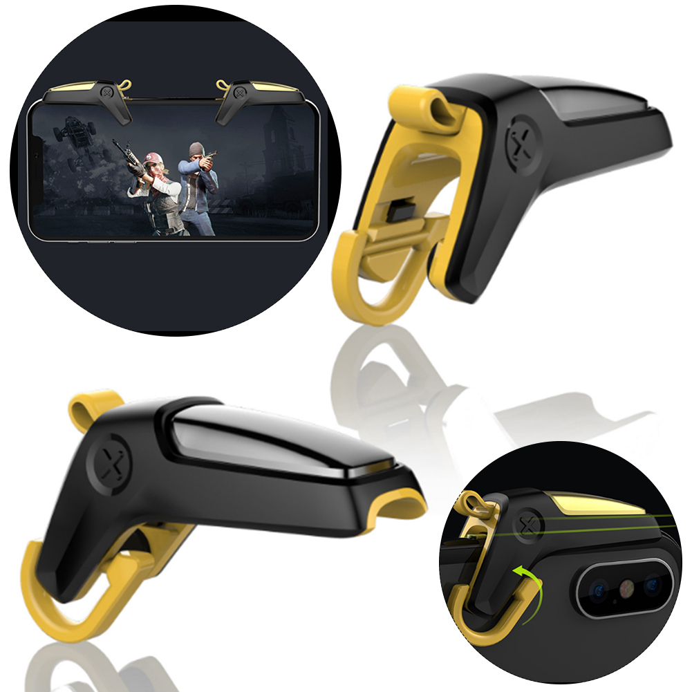 1 Pair Mobile Game Controller Trigger Aim Button For PUBG Shooter Joystick Gamepad For Android IPhone Samsung Gaming Accessories