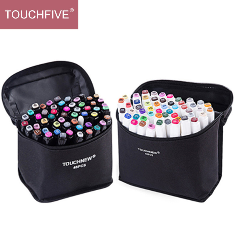 TOUCHFIVE 168 Sketch Markers Pens Set Manga Colored Markers Set Dual Head Art Supplier Paint Pen Draw Marker For Student