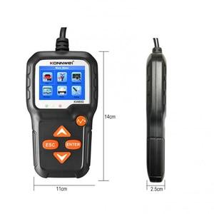 Image 5 - Konnwei kw650 6v 12v bateria de carro tester 100 2000 cca motocicleta bateria sistema analisador de carregamento cranking teste ferramenta de diagnóstico