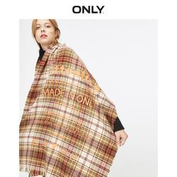 ONLY summer new retro hit color plaid letter tassel dual-use versatile scarf female | 11946H501