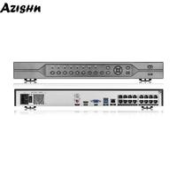 AZISHN H.265 48V POE NVR 16CH 5MP/8CH 4K Network Video Surveillance Recorder Motion Detect ONVIF P2P CCTV NVR For POE IP Camera