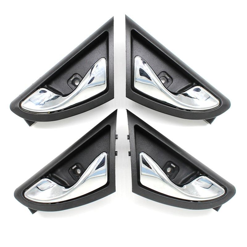 LARBLL 4pcs / lot krom prevleka spredaj levo desno desno notranja ročica vrat za JAC J3 J3S Torino 2009 ~ 2015 6105230U8010