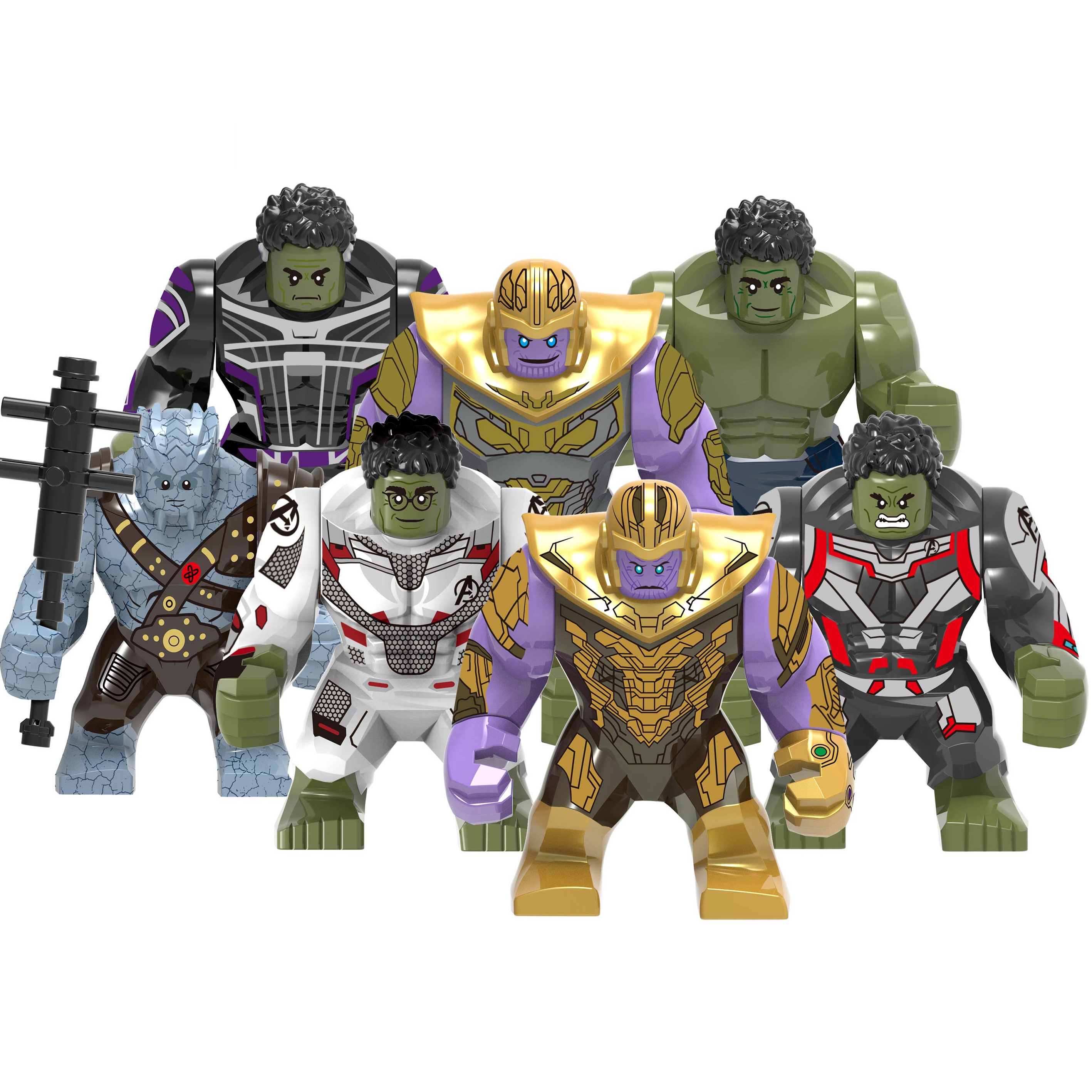 Image 3 - Big Size Hulk Marvel Avengers Endgame legoed Superheroes Hulkbuster Ironman Spiderman Thanos Building Blocks bricks Toy For Kids-in Blocks from Toys & Hobbies