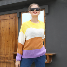 Sweater Women Winter 2019 Knitted Sweaters and Pullovers Batwing Sleeve O-neck Coat S-XL