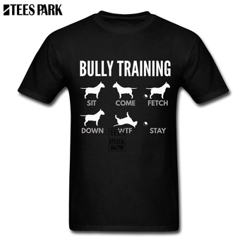 Men Nice Shirts English Bull Terrier Bully Training Dog T Shirts Harajuku Tshirt Crazy Junior Humorous T Shirts Super Hero