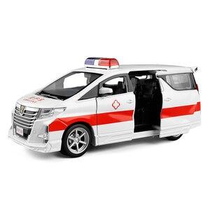 Image 4 - Hoge Simitation 1:32 Toyota Alphard Mpv Model Lichtmetalen Pull Back Auto Model 4 Open De Deur Met Geluid Licht Kids speelgoed Gratis Verzending