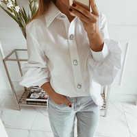 Plus Größe Blusen Frau 2019 Langarm Revers Weißes Hemd Büro Damen Arbeiten Blusen Mode Kleidung Blusas Frauen Shirts D30