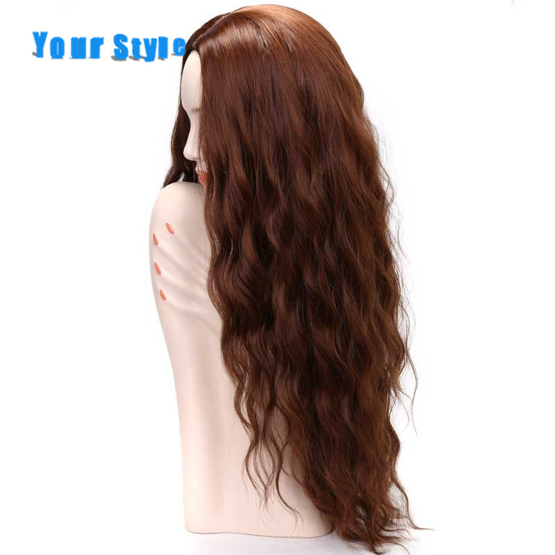 Your Style 4 Colors Long Deep Loose Wig For Women Cosplay Wigs High Temperature Fiber Ombre Brown Black Red Burgundy Color
